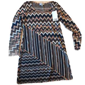 NWT missoni metallic long sleeve dress